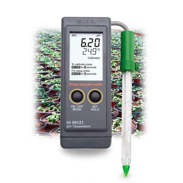 Фото 1 Карманный рН-метр HI 99121 для измерения рН почвы