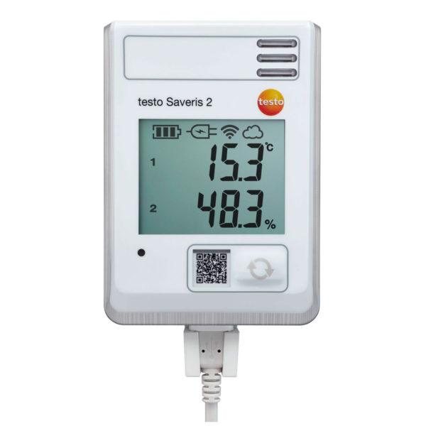 Фото 1 WiFi-логгер данных с дисплеем и встроенным сенсором температуры/влажности testo Saveris 2-H1